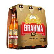 Cerveja Brahma Zero, 355ml, Long Neck, Pack C/6