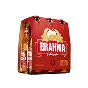 Cerveja Brahma Chopp, Pilsen, 355ml, Long Neck, Pack C/6