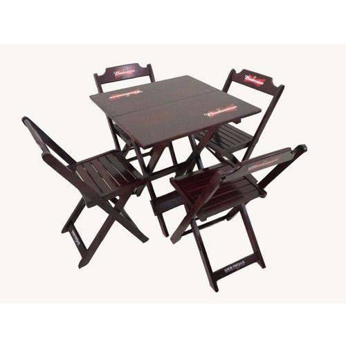 Jogo-de-Mesa-Budweiser-com-4-Cadeiras