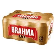 Cerveja Brahma Zero, 350ml, Lata, Pack C/12