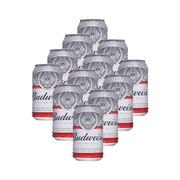 Cerveja Budweiser Lata 350ml - 12 Unidades
