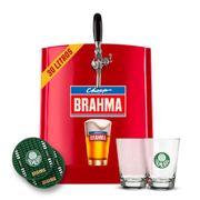 Kit Palmeiras: Chopp Brahma 30L + 6 calderetas + 6 bolachas