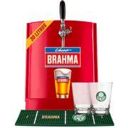 Kit Palmeiras: Chopp Brahma 30L + 6 calderetas + 1 barmat