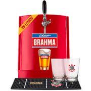 Kit Corinthians: Chopp Brahma 30L + 6 calderetas + 1 barmat