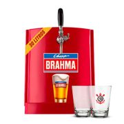 Kit Corinthians: Chopp Brahma 30L + 6 calderetas + 6 bolachas